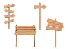 Segni e frecce di legno Fotografia Stock