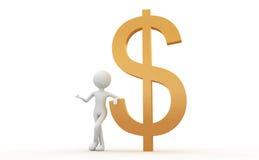 Segni e la gente del dollaro Immagini Stock Libere da Diritti