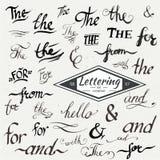 Segni & e slogan eleganti disegnati a mano Royalty Illustrazione gratis