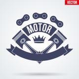 Segni ed etichetta del club del motore royalty illustrazione gratis