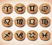 Segni ed icone dello zodiaco messi Immagine Stock