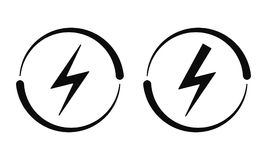 Segni elettrici Icona di vettore, corrente illustrazione vettoriale