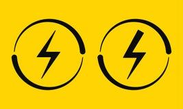 Segni elettrici Illustrazione di vettore, corrente illustrazione di stock