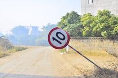 Segni Flopping limite di velocità Fotografia Stock