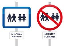 Segni gay Fotografie Stock Libere da Diritti