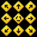 Segni gialli 02 delle frecce direzionali Fotografia Stock