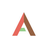 Segni il carattere con lettere di simbolo di A illustrazione di stock