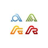 Segni il logo con lettere di vettore di A Fotografia Stock