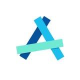 Segni l'icona con lettere di logo di A per progettare Fotografia Stock