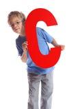 Segni la C con lettere immagine stock