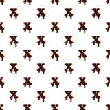 Segni la X con lettere dall'alfabeto latino fatto di cioccolato illustrazione vettoriale