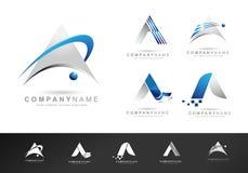 Segni Logo Design Icons con lettere Fotografia Stock Libera da Diritti