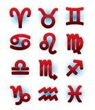 Segni lucidi verdi di horoscope Fotografie Stock