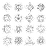 Segni magici della geometria di vettore Immagini Stock