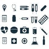Segni medici messi Immagine Stock Libera da Diritti