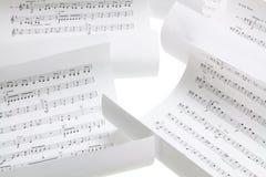 Segni musicali Fotografia Stock
