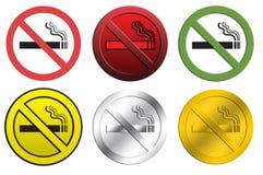 Segni non fumatori Immagine Stock Libera da Diritti