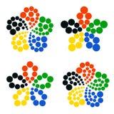 Segni olimpici Fotografia Stock Libera da Diritti