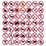 Segni proibiti Fotografia Stock