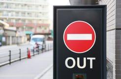 Segni proibiti dall'entrare nel Giappone immagine stock