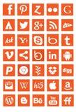 Segni sociali di logo di app di media della rete fotografia stock libera da diritti
