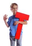 Segni T con lettere fotografia stock