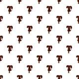 Segni T con lettere dall'alfabeto latino fatto di cioccolato illustrazione di stock