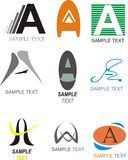Segni un logo con lettere Immagine Stock Libera da Diritti