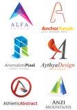 Segni un logo con lettere Fotografie Stock
