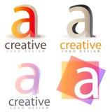 Segni un marchio con lettere Fotografie Stock Libere da Diritti