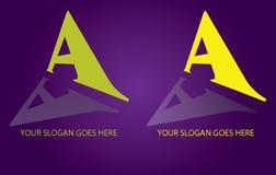 Segni un marchio con lettere Fotografia Stock