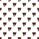 Segni W con lettere dall'alfabeto latino fatto di cioccolato illustrazione di stock