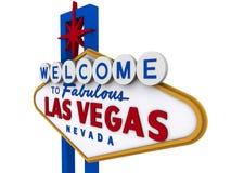 Segno 6 di Las Vegas Fotografie Stock