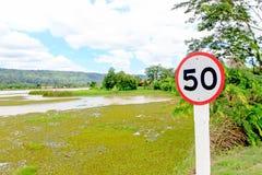 Segno 50 Fotografia Stock Libera da Diritti