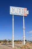 Segno abbandonato del caffè Fotografia Stock Libera da Diritti