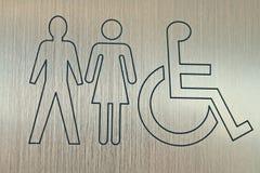 Segno accessibile del wc Fotografie Stock Libere da Diritti
