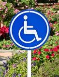 Segno accessibile di handicap immagine stock libera da diritti