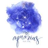 Segno Aguarius di astrologia illustrazione vettoriale