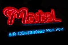 Segno al neon del motel fotografia stock