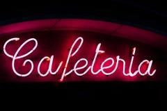 Segno al neon del self-service Fotografie Stock Libere da Diritti
