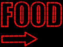 Segno al neon dell'alimento Fotografie Stock