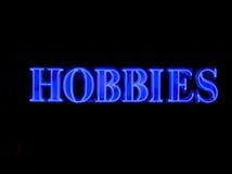 Segno al neon di hobby Immagini Stock Libere da Diritti
