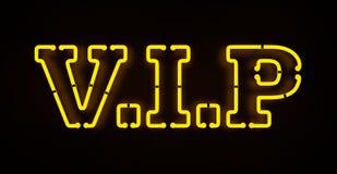Segno al neon di VIP Fotografia Stock