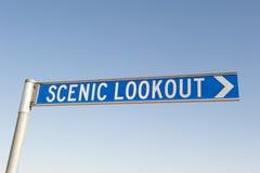 Segno all'allerta scenica all'aperto Fotografia Stock