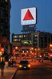 Segno alla notte, un limite di Citgo di Boston Fotografia Stock Libera da Diritti