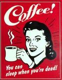 Segno antiquato del caffè Fotografia Stock