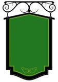 Segno antiquato verde Immagine Stock