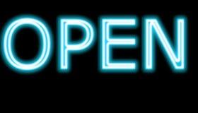 Segno aperto del neon Fotografie Stock Libere da Diritti