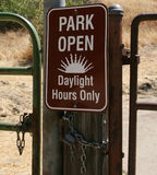 Segno aperto del parco Fotografia Stock
