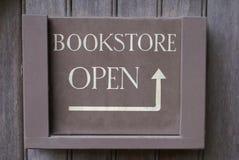 Segno aperto della libreria Fotografia Stock